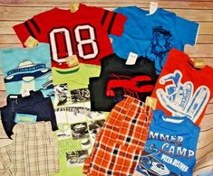0ac6162c0819 Nwt Boys Summer Clothes Lot 4 Gymboree Sets Outfits Plaid shorts tops New