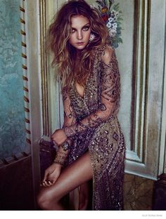 Heather Marks Models Dreamy Looks for Elle Russia, Dec 14 by Xavi Gordo. Label ? Via FGR 11/10/14 http://www.fashiongonerogue.com/heather-marks-models-dreamy-looks-elle-russia-xavi-gordo/2/