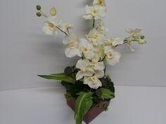 Orchid Arrangement, White Orchid Arrangement, Elegant Orchid Arrangement, Orchid Floral Arrangement, Elegant Table Arrangement,Orchid Accent by BeautifulHomeAccents on Etsy
