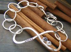 Infinite love with gem stones hand forged and by cinnamonsticks