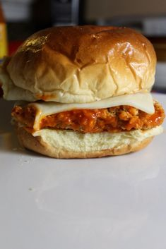 One of Sean's guiltiest of guilty pleasures is his love for Chick Fil-A's secret menu item: the buffalo chicken sandwich. We will save him the ridicule of how often he eats it, but just know that it is far too often. In an attempt to … Buffalo Fries, Buffalo Chicken Burgers, Buffalo Chicken Sandwiches, Chicken Sandwhich, Chicken Sandwich Recipes, Burger Recipes, Recipe Chicken, Bbq Burger, Beef Burgers
