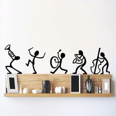 Buy Decals Design 'Musical Instruments Happy Band' Wall Sticker (PVC Vinyl, 30 cm x 45 cm, Black) Online at Low Prices in India - Amazon.in