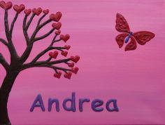 Handmade personalised small canvas