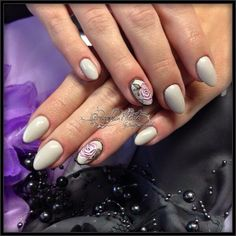 Fullcover mit Pinselmalerei Nails Nailart Design