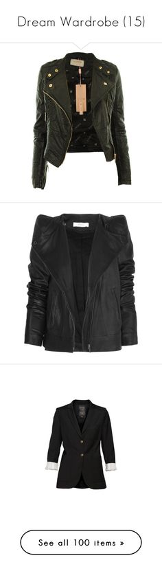 """""""Dream Wardrobe (15)"""" by hobash ❤ liked on Polyvore featuring outerwear, jackets, leather jackets, casacos, coats, cropped faux leather jacket, biker style jacket, fake leather jacket, zip jacket and faux leather zip jacket"""