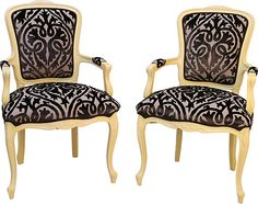 Power of Pairs -pair French Louis XVI-Style Fauteuils