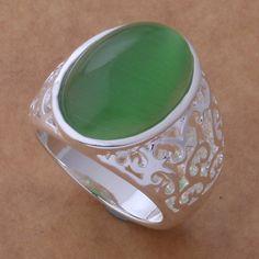Promoción envío gratis anillo de moda Jewerly anillo mujeres y hombres Jade piedra de color / aqoajhva ccuakuba AR423