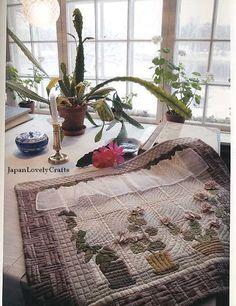 nordic quilt, window, saito japanes, flower pots