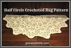 Crocheted Half Circle Rug