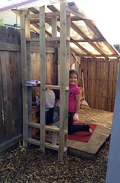 play house built out of pallets