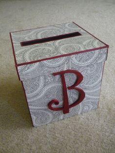 DIY wedding card box. Changed it up a bit but Success!