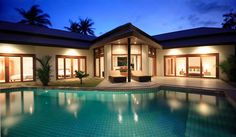 3-Bedroom Pool Villa Near Cheong Mon Beach  --- from 300$ per night --- Koh Samui Luxury Real Estate