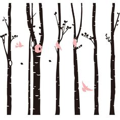 246 * Forest Birds Art Decor Wall Decal Six Large Black Trees Wall Stickers for Kids Room Living Room TV Background Cheap Wall Stickers, Wall Stickers Home, Decoration, Art Decor, Home Decor, Wall Decals For Bedroom, Black Tree, Living Room Tv, Tree Branches