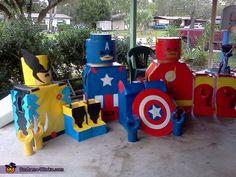 LEGO Superheroes - Halloween Costume Contest via @costumeworks