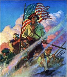 Illustration by N.C. Wyeth from Poems of American Patriotism