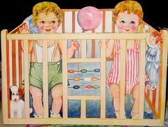 The Twinnies in their Playpen by Pennelainer, via Flickr