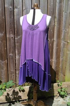 Lavender patch, a cotton jersey layering tunic.