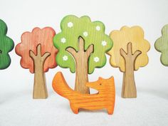 WALDORF Tree set Seasons Play set Learning by WoodenCaterpillar