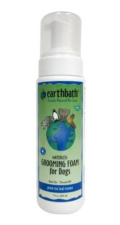 $10.99-$10.99 Earth bath Green Tea Waterless Grooming Foam for Dogs, 7.5-Ounce - Rub on, towel off. Gentle cleansers whisk away dander, dirt and residual saliva, helping resolve human/dog allergies and leaving the coat with a plush, show-quality shine. Helps control shedding too. Contains Green Tea Leaf essence, a natural anti-oxidant which helps protect skin from environmental damage. http://www.amazon.com/dp/B003DHNFNG/?tag=pin2pet-20