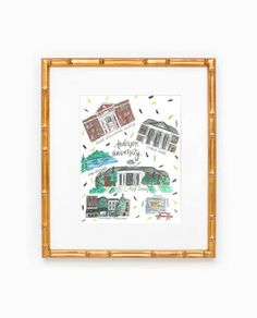 Anderson University Map Print by Rachel Tenny