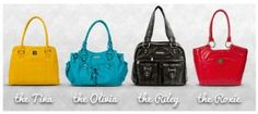 Here are the Kaboo Bags.  My favorite is the Roxie with the Tina in mustard a very close second