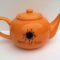 Spot of Tea tea pot by squackdoodle on Etsy