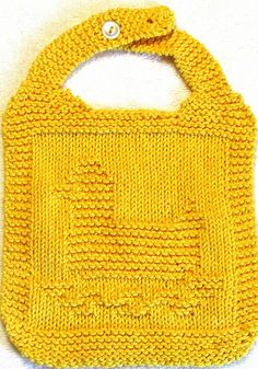 BIB Knitting Pattern - Rubber Duck - PDF photo by Easy Care Baby Knits, LLC