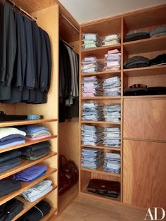 Kim's meticulously organized closet is marine-grade plywood | archdigest.com