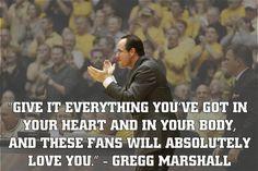 Shocker Motivation by Head Men's Basketball Coach Gregg Marshall.