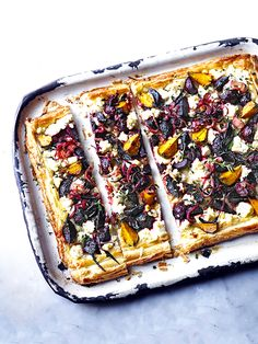Beetroot, feta and thyme tart - This beetroot, feta and thyme tart looks amazing and tastes delicious, too. It requires a bit of time, but the recipe itself is really easy. It's vegetarian, and serves six, so it's perfect for summer entertaining. Beetroot's main season runs from July until January, so you've got plenty of time to enjoy them.