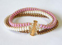 Pastel friendship bracelet handmade cuff by lizaluksenberg on Etsy, $38.00