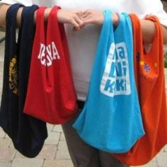 Turn a T-Shirt into a Tote Bag - BOOK BAGS!!