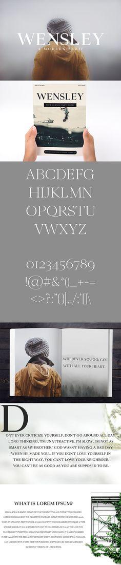 Wensley #Modern #Serif #Font Family by Creativetacos on @creativemarket