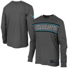 Charlotte Hornets Youth Big E Long Sleeve Thermal T-Shirt - Charcoal - $24.99