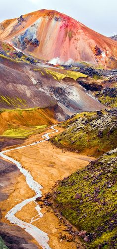 16 Reasons Why You Must Visit Iceland Right Now. Amazing no. TRAVEL, Landmannalaugar colorful mountains in Iceland. Places To Travel, Places To See, Beautiful World, Beautiful Places, Colorful Mountains, Iceland Travel, Iceland Hikes, Volcano Iceland, Adventure Is Out There