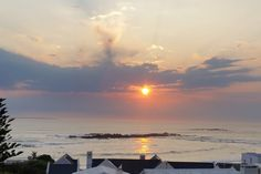 Beautiful view of the sunset from BlaauwVillage Guest House in Bloubergstrand, Cape Town, South Africa! Activities In Cape Town, South Africa, Celestial, Sunset, House, Outdoor, Beautiful, Outdoors, Home