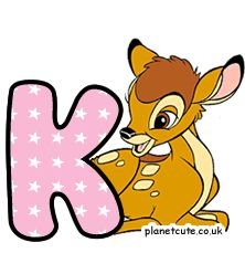 Planet Cute - Alphabet - Bambi - Image Disney Letters, Cute Alphabet, Letters And Numbers, Bambi, Winnie The Pooh, Pikachu, Disney Characters, Fictional Characters, Image