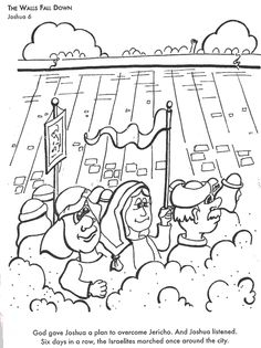 Joshua Fought The Battle Of Jericho Bible Coloring Pages Preschool