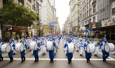 The Divine Land Marching Band participates in the Veterans Day Parade in New York on Nov. 11, 2015. (Samira Bouaou/Epoch Times)