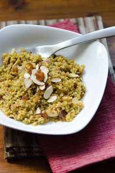 Freekeh Pilaf w Apricots & Almonds | Bob's Red Mill #MeatlessMonday