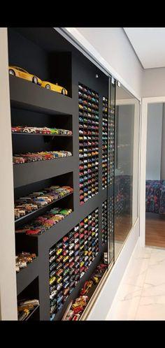 Cool Bedrooms For Boys, Awesome Bedrooms, Garage Design, House Design, Vintage Car Bedroom, Toy Car Storage, Hot Wheels Display, City Wallpaper, Nmd