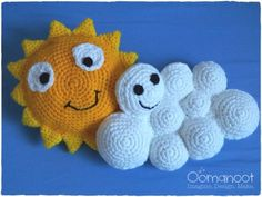 Partly Cloudy: Crochet Pillows for Kids Tutorial | Oomanoot