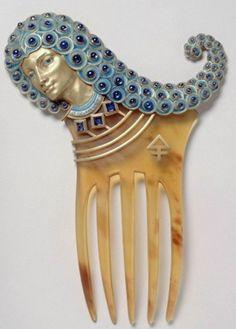 Maison Vever | JV Art Nouveau comb