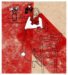 """Smartgirls"" - Marco Campedelli, 2014 - mixed media #mixedmedia #illustration #drawing #smartphone #girls"