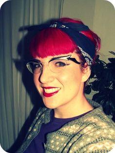 Rockin the bandana, red hair and lips! love