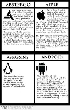 Apple is Abstergo - the modern day templars