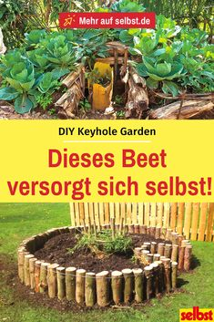 Self-catering bed: DIY # raised garden beds The Keyhole Garden is a self-catering raised bed. In our instructions you will learn how to create your own keyhole garden with an integrated composter.