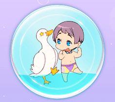 Aquacharm Nitori ...  Free! - Iwatobi Swim Club, free!, iwatobi, nitori, aiichiro nitori, aiichiro, duck, aquacharm