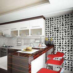 Wall decor for animal lovers: wallpaper with black&white animals would bring life to your flat!