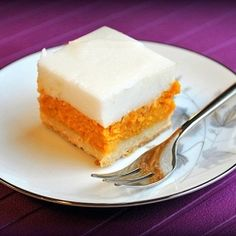 This cool dessert is great for a backyard barbecue! Sweet potatoes and haupia (creamy coconut pudding) on a gluten-free cookie crust.